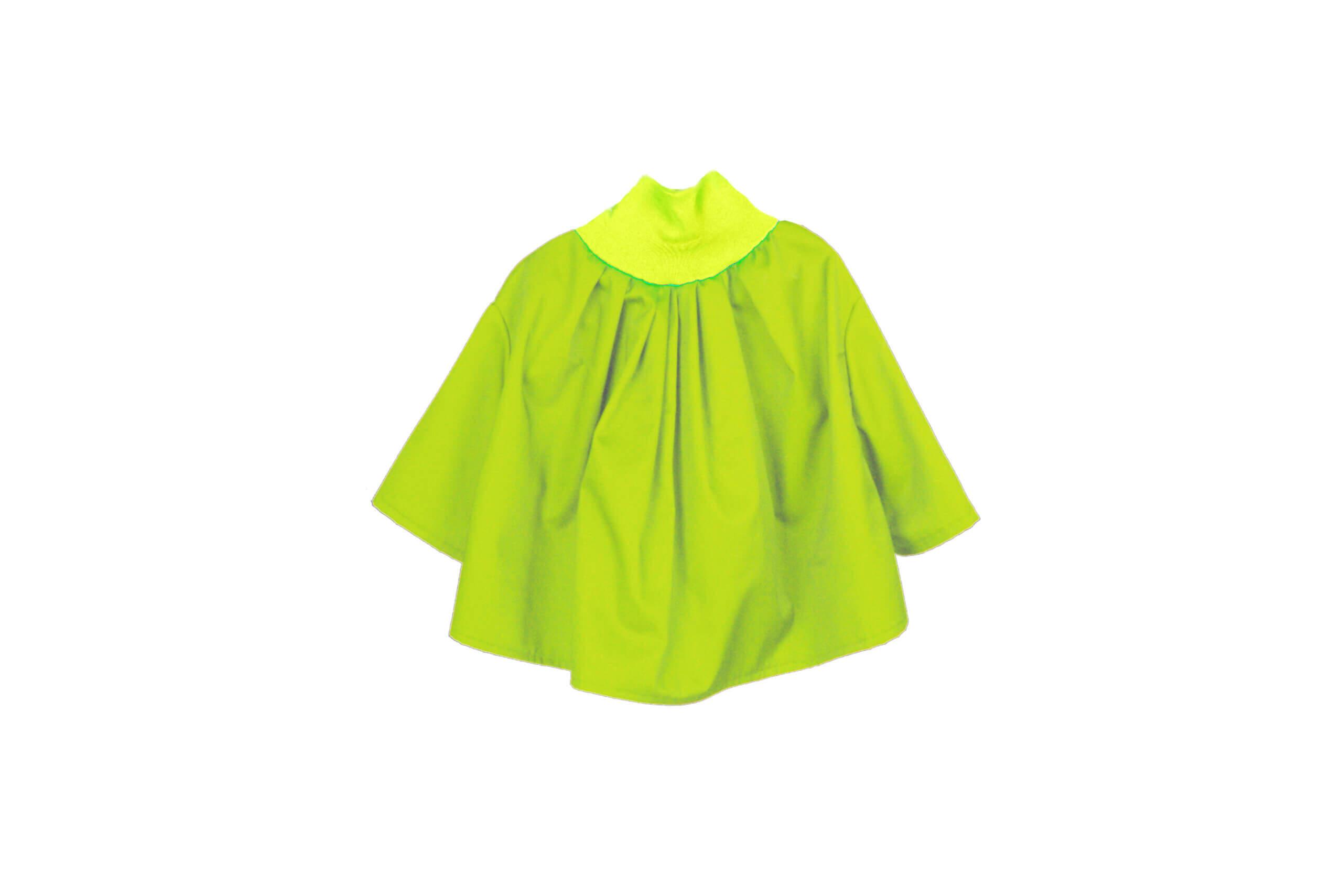 front neckshirt green