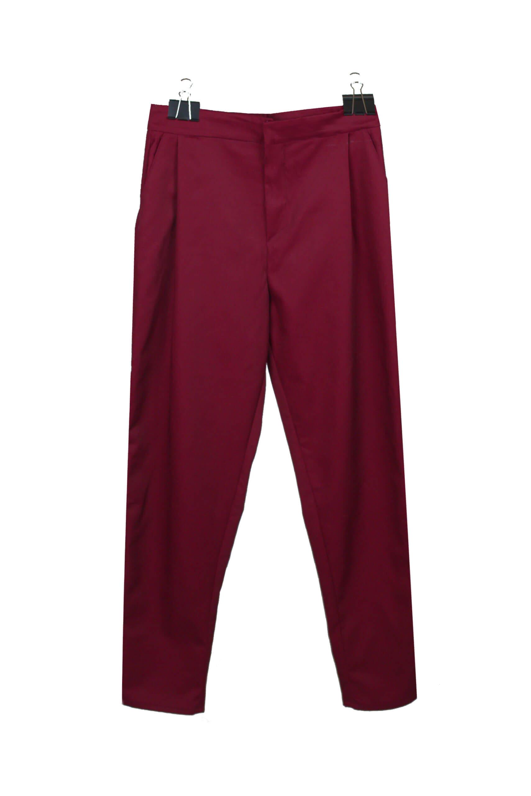 front plead pants