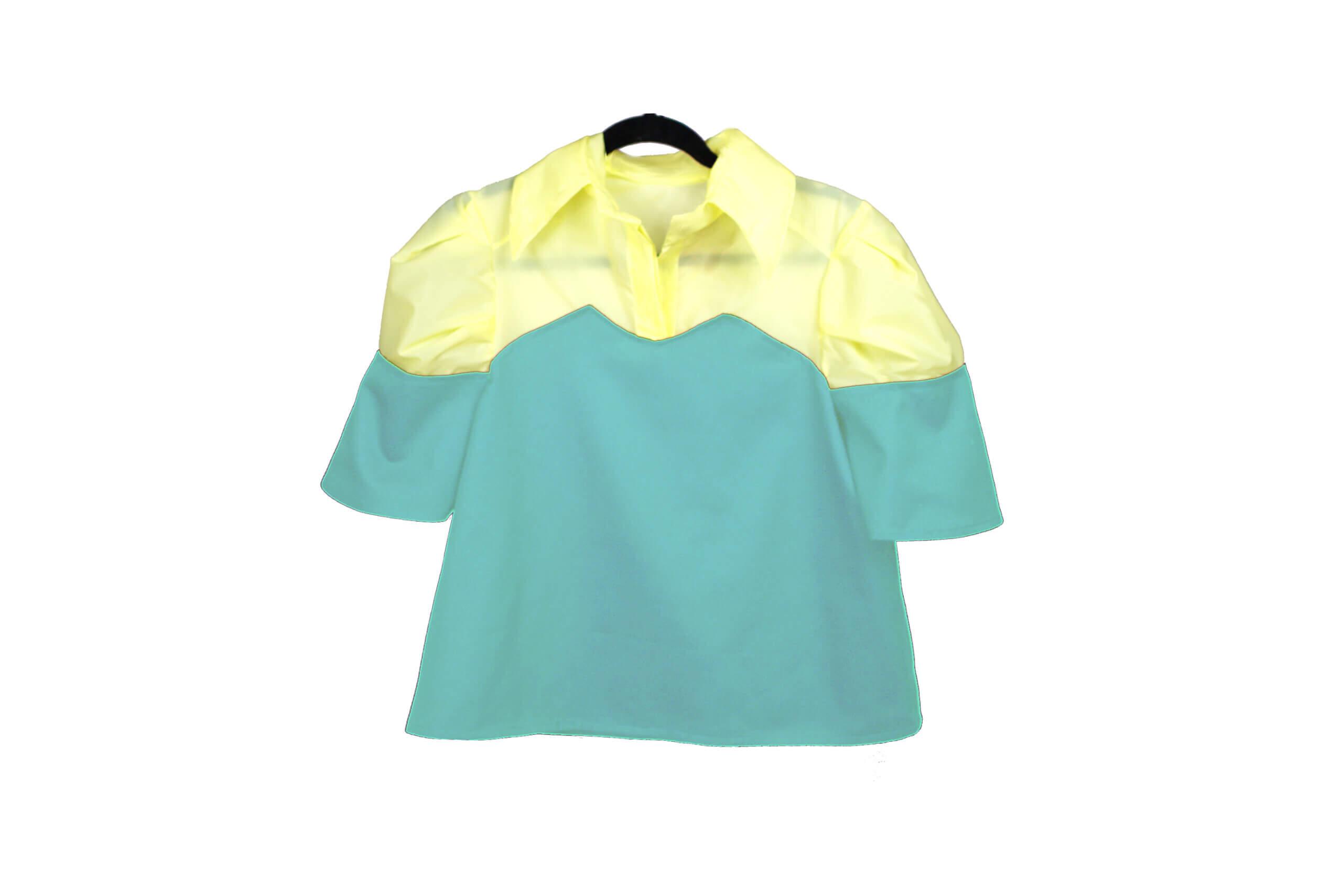 front shirt button blue