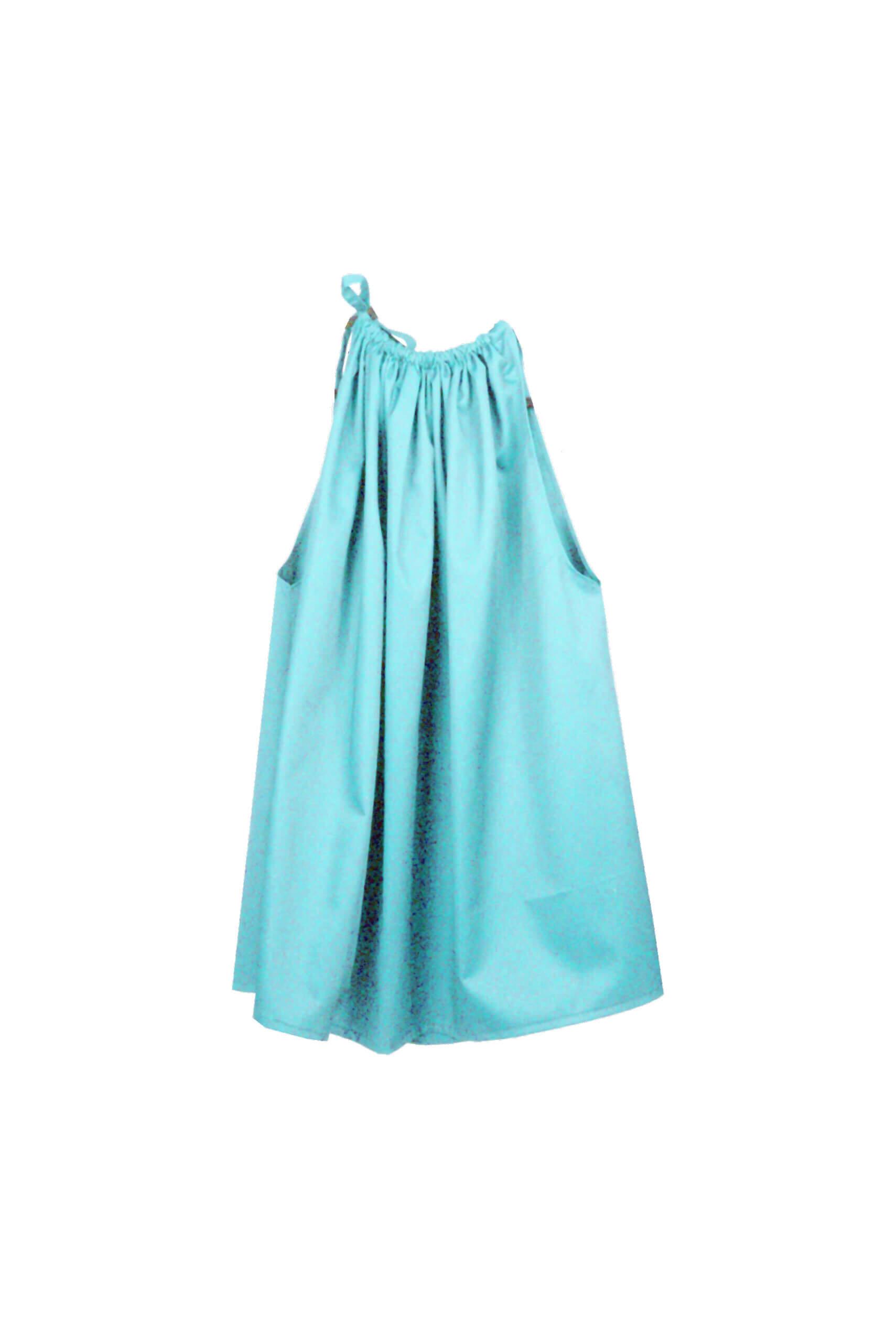 front wrinkle dress blue